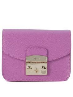 4316cf373b FURLA Mini Borsa Furla Metropolis In Pelle Di Vitello Lilla. #furla #bags #  #
