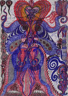 cavinmorrisgallery:Noviadi Angkasapura Untitled, 2014 Ink marker on paper glued to cardstock 14.5 x 10.25 inches 36.8 x 26 cm NoA 68