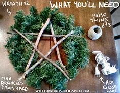 A few days ago, my husband discovered a wreath I'd bought on clearance after Yule for next year in the back of his car. When he brou. Yule Crafts, Wiccan Crafts, Holiday Crafts, Holiday Ideas, Holiday Decor, Pagan Christmas, Christmas Wreaths, Christmas Crafts, Natural Christmas