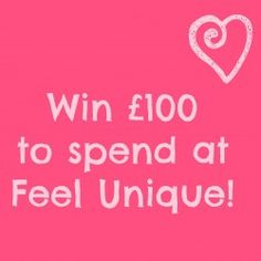Win a £100 e-voucher to spend at Feel Unique. Open worldwide. ^_^ http://www.pintalabios.info/en/fashion-giveaways/view/en/3054 #International #Cosmetic #bbloggers #Giweaway