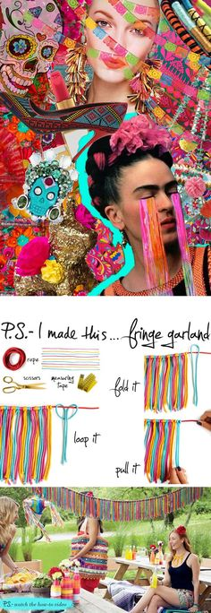 Crank up the heat from mild to medium at your Cinco de Mayo fiesta with this fringe garland project from Erica's book, P.S.-You're Invited…! No Mexican inspired bash is complete without a dash of bold...