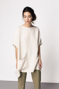 Harper Tunic Nice, casual outfit with a polished look! Look Fashion, Fashion Outfits, Womens Fashion, Fashion Details, Simple Style, Style Me, Linen Dresses, Minimal Fashion, Mode Inspiration