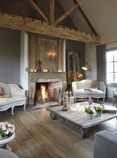 How charming is this warm lounge room?