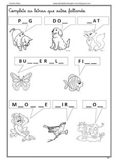 Image result for prova de ingles pre escola
