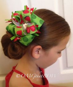 OMG that Strawberry BOW by OMGthatBOW on Etsy,