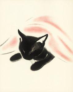 Cat Nap Print Baby Nursery Decor Art Print door ParagonVintagePrints, $8.00