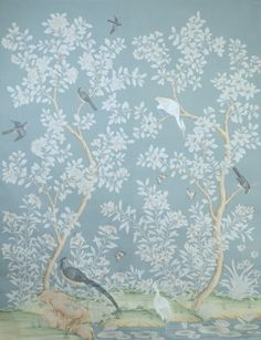 I was sure that I had written about affordable Chinoiserie wallpaper panels, murals before. So, here are the latest findings. Wallpaper Panels, Fabric Wallpaper, Wall Wallpaper, Hand Painted Wallpaper, Painting Wallpaper, Handmade Wallpaper, Chinoiserie Wallpaper, Chinoiserie Chic, Gracie Wallpaper