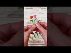 Tulipán MINIATURA tejido a crochet en MINUTOS 🌷 - YouTube Hairpin Lace, Baby Wearing, Snowflakes, Knit Crochet, Cactus, Crochet Patterns, Crafty, Ornaments, Knitting
