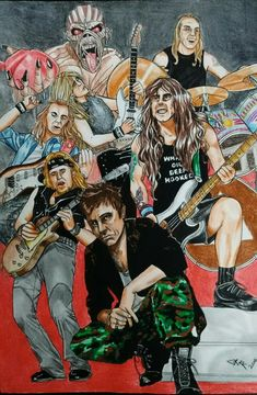 Iron Maiden Band, Def Leppard, Music Bands, Rock Music, Rock And Roll, Wallpapers, Metal, Board, Skulls