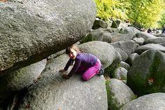 Viel Spaß mit Kindern im Felsenmeer im Odenwald