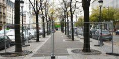 En île de France, des grilles installées pour empêcher les migrants de s'installer.