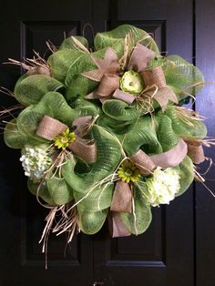 A personal favorite from my Etsy shop https://www.etsy.com/listing/186762811/spring-hydrangea-wreath