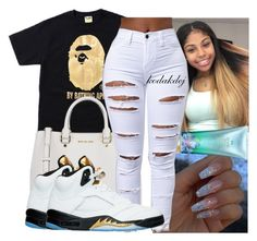 """"""""""" by kodakdej ❤ liked on Polyvore featuring A BATHING APE, MICHAEL Michael Kors and Victoria's Secret"""