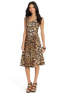 Leopard-Print Jersey Dress - Lauren Short Dresses - RalphLauren.com