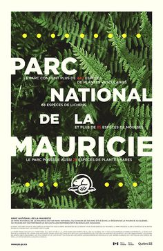 Poster for a national park in Canada