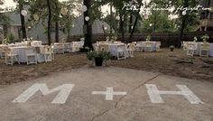 Our Backyard Wedding Reception - www.partiesforpennies.blogspot.com