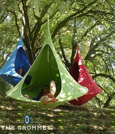 A cross between a hammock and a tent, the Cacoon is a fully-enclosed hideaway where you can relax to your heart's content while still enjoying the great outdoors. Shop Now >>