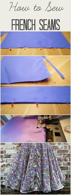 French seams are perfect for finishing seams when you are working with delicate fabrics, and they're easy to do! Find out how in this step by step tutorial. Tea and a Sewing Machine http://www.awilson.co.uk