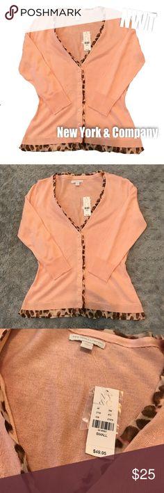NWT NY&C cardigan! NWT NY&C light pink cardigan! New York & Company Tops