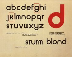 Sample of the Universal alphabet by Herbert Bayer, Bauhaus teacher and graphic designer described as the Bauhaus style. Herbert Bayer, History Of Typography, Graphic Design Typography, Graphic Design Illustration, Bauhaus Font, Bauhaus Design, Alphabet, Laszlo Moholy Nagy, Grafik Design