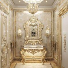 Dream House Interior, Luxury Homes Dream Houses, Luxury Interior, Interior Design, Gold Dresser, Laundry Room Storage, Villa Design, House Floor Plans, Flooring