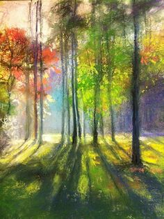 God Light by Camille Day Pastel ~ 14 x 11
