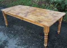 Kitchen Tables on Dining Table Rustic Pine Farm Table Antique Kitchen Breakfast Library Rustic Farm Table, Farmhouse Kitchen Tables, Diy Dining Table, A Table, Farm Tables, Kitchen Nook, Brooklyn Kitchen, Pine Table, Cabin Design