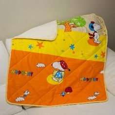 blanket of eco-friendly materials for kids with Snoopy