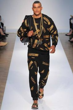 Moschino Spring 2015 Menswear Collection Slideshow on Style.com