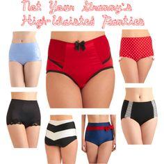 High-Waisted Panties Inspiration Board at wesewretro