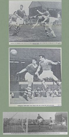 Gillingham 3 Southend Utd 2 in Dec 1960 at Priestfield Stadium. Action from the FA Cup 2nd Round.