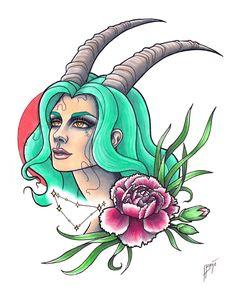 Capricorn by gewoonjas on DeviantArt Aquarius Symbol Tattoo, Capricorn Tattoo, Zodiac Art, Astrology Zodiac, Zodiac Signs, Capricorn Women, Capricorn And Aquarius, Capricorn Images, Capricorn Quotes