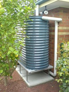 Colorbond Rainwater Tank For The Side Of The Home. #rainwatertank  #colorbond Rainwater Tank