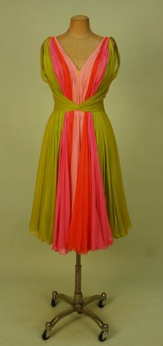 Color Combo  Cocktail Dress  1960s  Whitaker Auctions