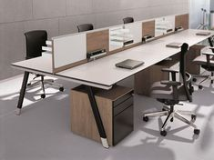 Office workstation T-Workbench by BENE design Christian Horner, Kai Stania, Johannes Scherr Office Furniture Design, Workspace Design, Bench Furniture, Office Workspace, Office Interior Design, Office Designs, Industrial Furniture, Corporate Interiors, Office Interiors