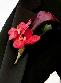 floral wedding boutonniere