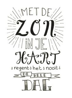 Gemaakt door Jiska van Sterrig Handwritten Quotes, Hand Lettering Quotes, Calligraphy Quotes, Dutch Quotes, Journal Quotes, Write It Down, Cool Words, Slogan, Quotes To Live By