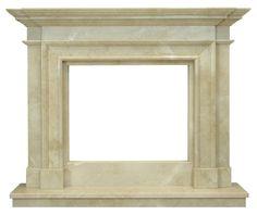 kominek marmurowy klasyczny portal kominkowy Memphis-marmur crema marfil