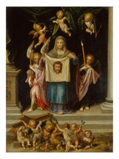 Veronica with the Shroud of Christ Religious Images, Religious Art, Virgin Mary Painting, St Veronica, Verona, Catholic Art, Roman Catholic, Christian Artwork, Jesus Painting