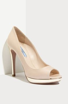 Prada Peep Toe Pump