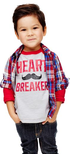 This little heartbreaker's outfit brought to you by Old Navy kids wear.