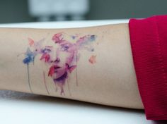 Amazing Face Tattoo Watercolor Style Ruth Ideas