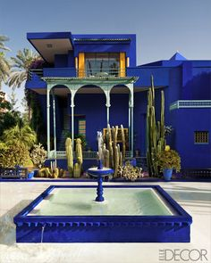 Fountain in Jardin Majorelle Marrakech