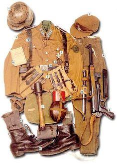 2da Guerra - Increíbles uniformes originales
