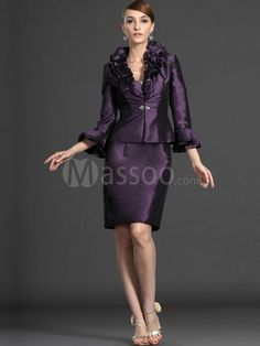 Discount Regency Taffeta Sheath Wedding Party Dress Knee-length with Crystals MS10JC630 Online