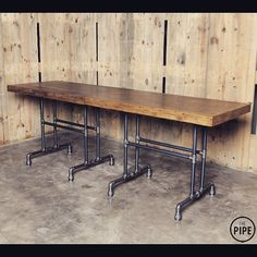 THEPIPE table(1400w*800d*1000h/2ea)  #piptable #bartable #pipefurniture #pipedesign #wood #blackpipe #handmade #THEPIPE  #더파이프 #파이프테이블  #바테이블 #파이프가구 #파이프인테리어 #원목 #흑관