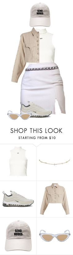 """You know how to do it."" by thaijohnson ❤ liked on Polyvore featuring Off-White, NIKE, Art School and Le Specs"