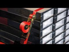 Quickloader is a ratchet tie down strap that makes moving loads easier and safer thanks to its self-adjusting recoil feature. When you tighten the straps, the locking mechanism provides an added measure of safety.