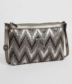 Miss Me Chevron Crossbody Purse - Women s Accessories in Grey  6add18c603996