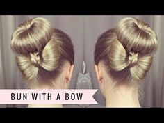 Bun with a Bow by SweetHearts Hair - YouTube